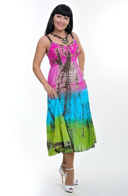 Сарафан женский «деграде» радуга хлопок ПЛ 10058-1
