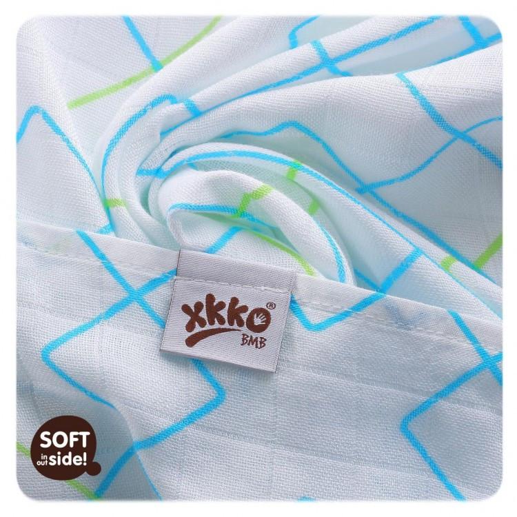 Бамбуковые пеленки XKKO® вмв коллекция Круги и квадраты 90х100 , фото 2 e587b0651c9