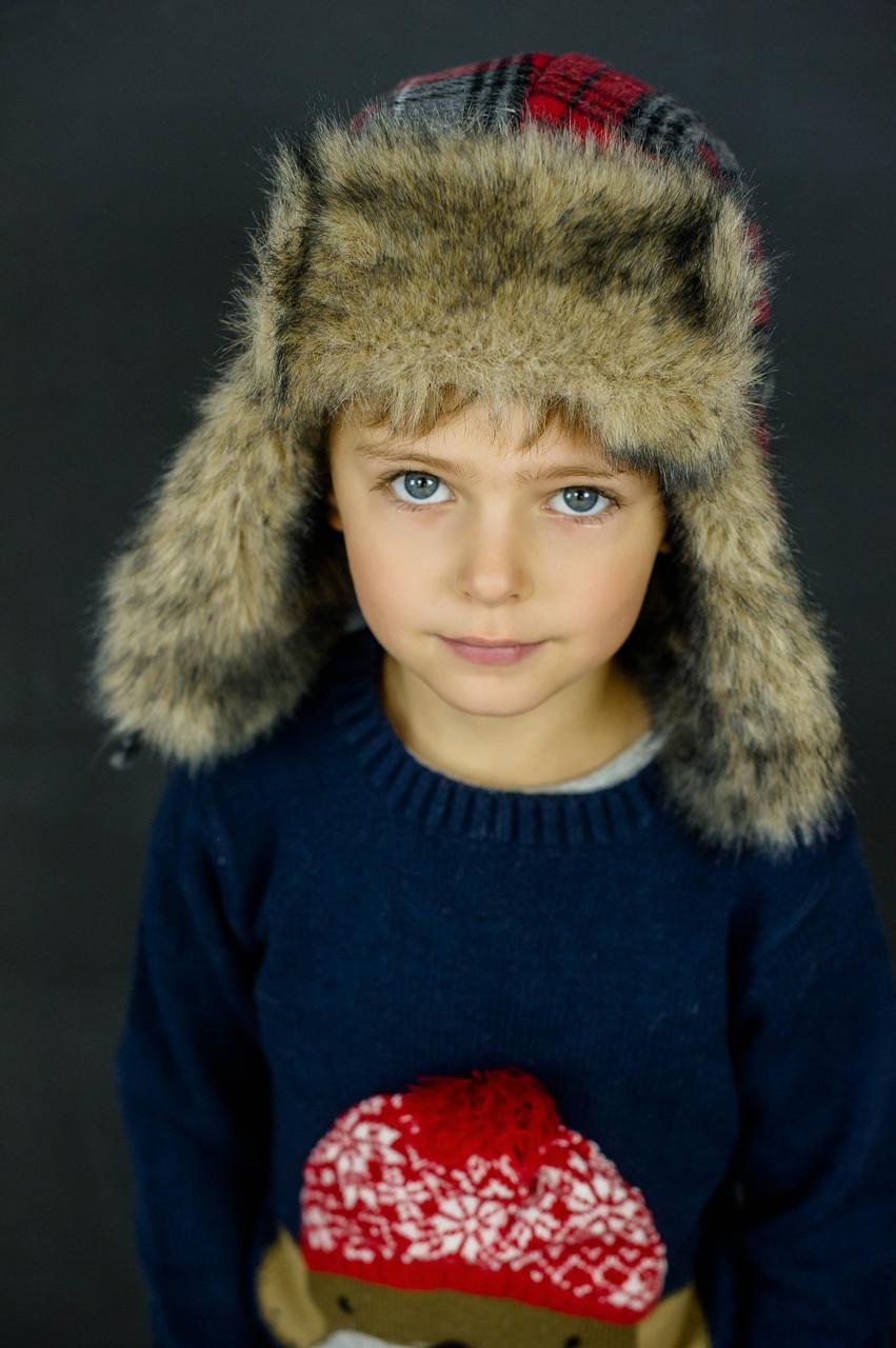 Детская зимняя шапка для мальчиков КЭНИ оптом размер 52-54
