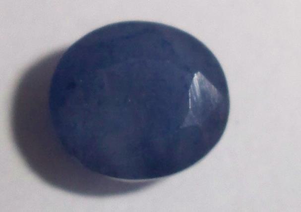 Природный синий сапфир овал