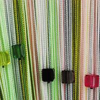Нитяные радужные шторы со стеклярусом (108)