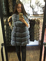 """Меховой жилет из меха финского песца """"Eleanor""""44 размер в наличии"""