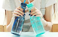 Бутылочка для воды с трубочкой