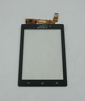 Оригинальный тачскрин / сенсор (сенсорное стекло) для Sony Xperia Sola MT27i (черный цвет)