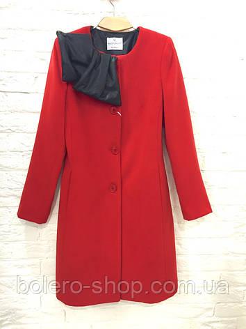 Женское пальто   Rinascimento красное кашемировое, фото 2