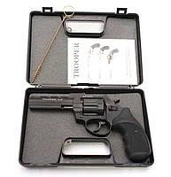 "Trooper. Револьвер Trooper 4.5"" под патрон Флобера, револьвер цинк мат/чёрн пласт/чёрн. Пневматическое оружие"