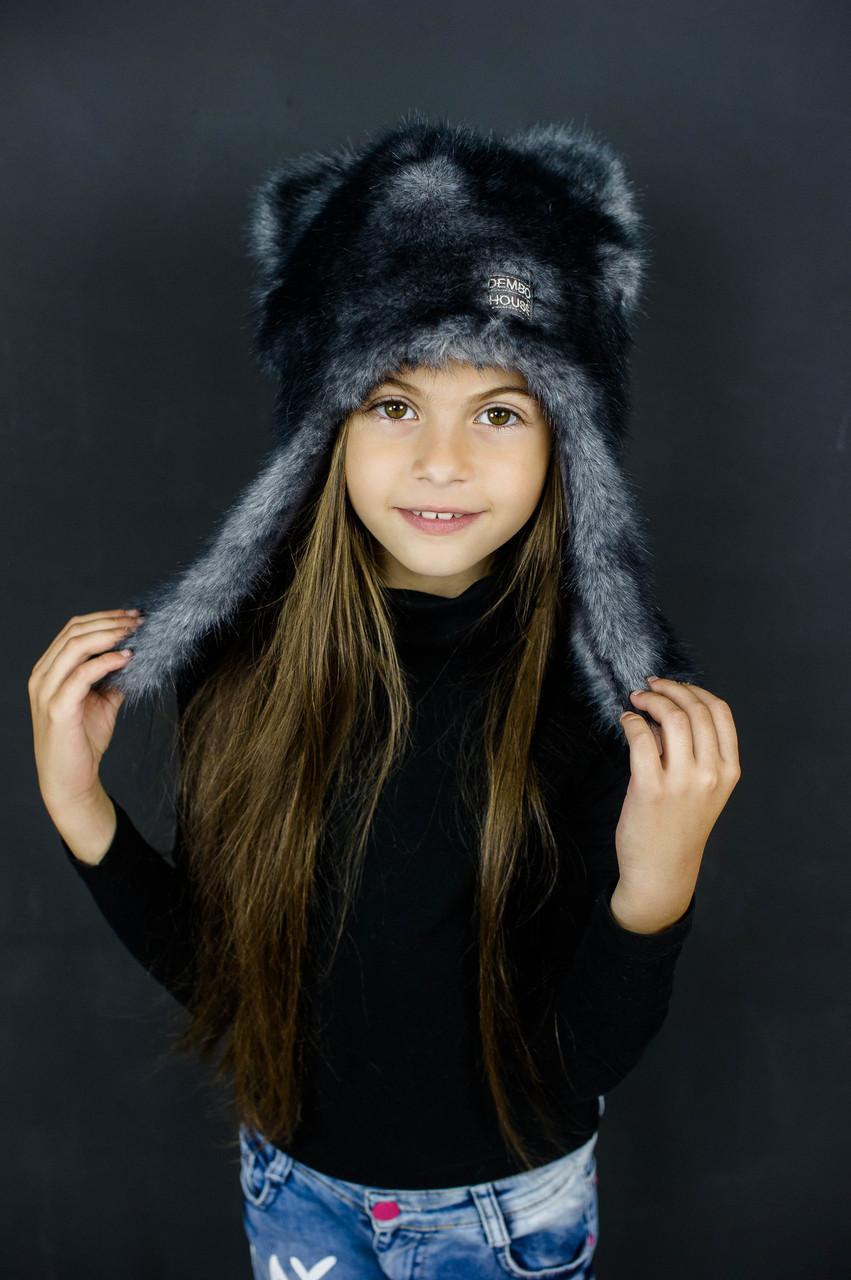 Детская зимняя шапка оптом размер 52-54-56