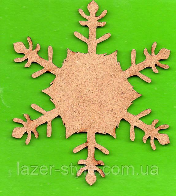 """Дерев'яна Заготовка для декупажу та розпису """"Сніжинка різьблена міні"""""""