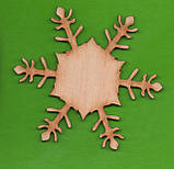 """Дерев'яна Заготовка для декупажу та розпису """"Сніжинка різьблена міні"""", фото 2"""