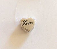 Серебряный подвес шарм Pandora Сердце Love