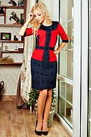Дизайнерское платье с баской, фото 1