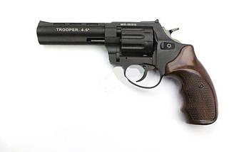 """Револьвер под патрон Флобера Trooper 4.5"""" цинк мат/чёрн пласт/под дерево. Пневматичка, фото 2"""