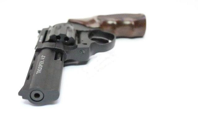 "Револьвер под патрон Флобера Trooper 4.5"" цинк мат/чёрн пласт/под дерево. Пневматичка"