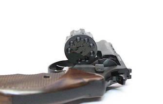 """Револьвер под патрон Флобера Trooper 4.5"""" цинк мат/чёрн пласт/под дерево. Пневматичка, фото 3"""