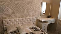 Белая велюровая кровать