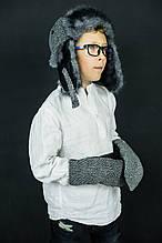 Детская зимняя шапка (набор) для мальчиков ЭШТОН оптом размер XS-S-M