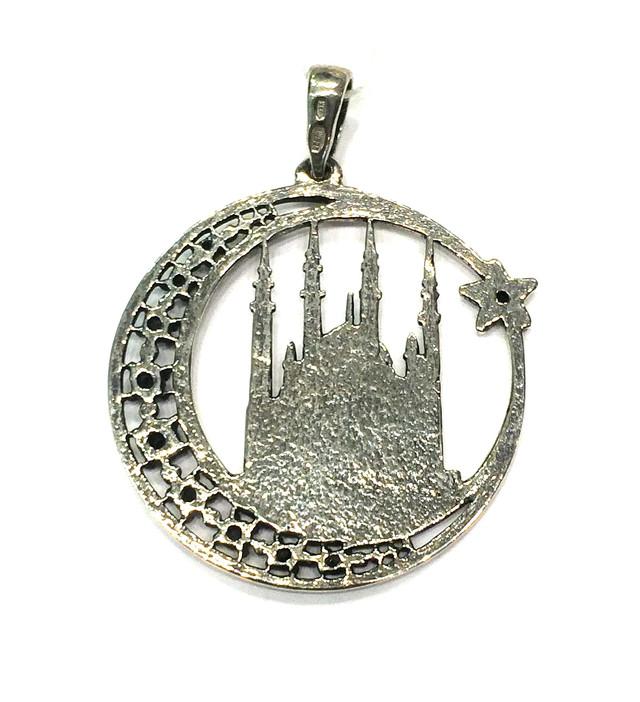 Серебряный мусульманский кулон Мечеть