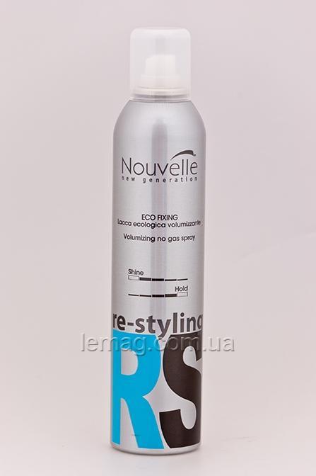 Nouvelle Re:Styling Eco Fixing Лак для волос без газа сильной фиксации, 300 мл
