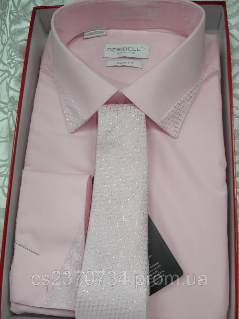 Рубашка приталенная ,праздничная. XL