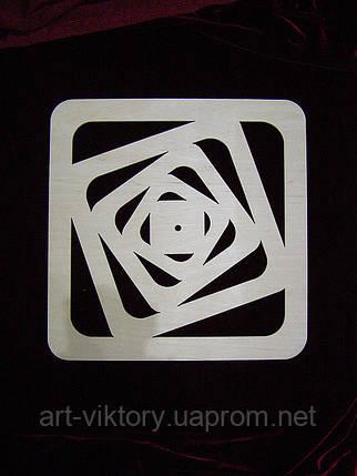 Часы сдвинутые квадраты (38 х 38 см), фото 2