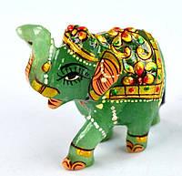 264 карт. Природный нефритовый слон с ручн. росп.