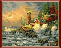 "Картины по номерам ""Прибой возле маяка"", MG279, 40х50см., фото 1"