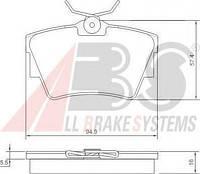 Тормозные колодки дисковые задние A.b.s. на Renault Trafic
