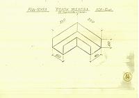 Уголок желоба 330х330 из оцинков. стали толщ.1,0мм;ширина слива-150мм,высота-100мм для установки в схемах водо