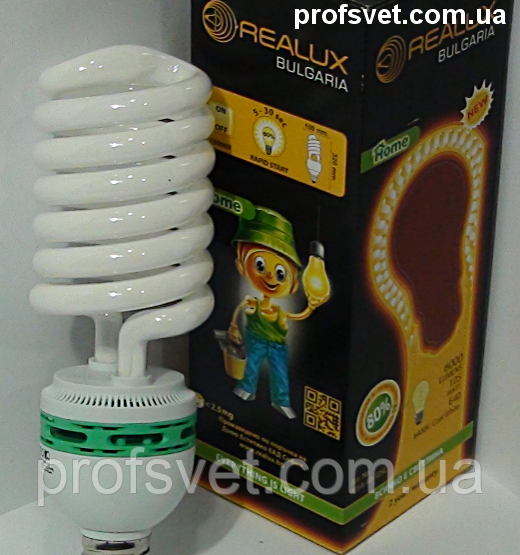 Лампа энергосберегающая 85 вт е40 6400k Реалюкс