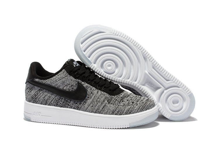 Женские кроссовки NIKE AIR FORCE 1 LOW FLYKNIT - GREY