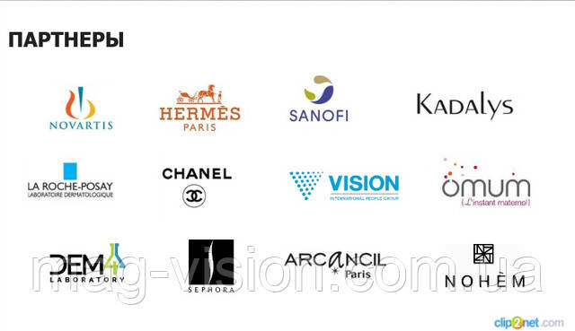 Vision Skincare партнеры