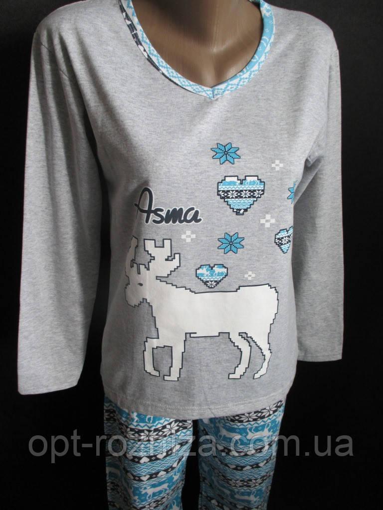 Хлопковые пижамы на байке женские
