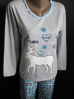 Хлопковые пижамы на байке женские, фото 1