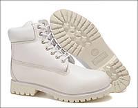 Ботинки Timberland classic waterproof series 10061 натуральная кожа, цвет белый