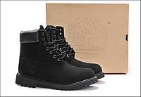Ботинки Timberland classic waterproof series 10061 натуральная кожа, цвет черный