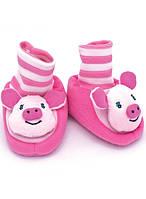 Теплые домашние носочки для младенцев с апликацией животных Baby Ciapki