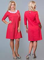 Платье с кружевным воротничком в расцветках 12139