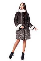 Женское зимнее пальто с натуральным мехом (р. 44-54) арт. 820 (н/м) Тон 2