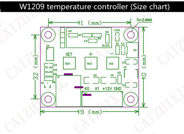 Терморегулятор с индикацией 12 В. -50…110 С