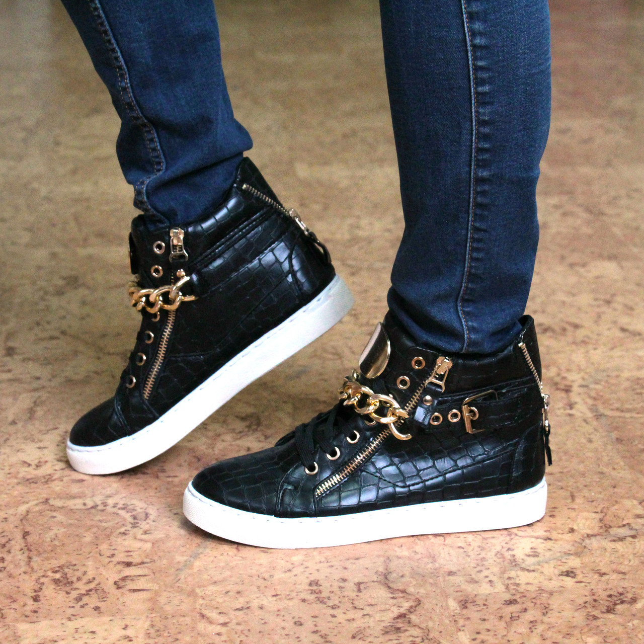 0db38d49e730 Ботинки женские демисезонные кеды Zanotti черные 37 размер, осенняя обувь