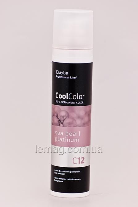 Erayba Professional Cool Color Пигмент прямого действия C12 - жемчужно-платиновый, 100 мл