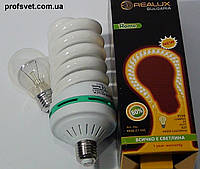 Лампа энергосберегающая 55 вт е27 6400k РЕАЛЮКС