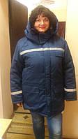 Куртка зимняя, утепленная курточка из светоотражающими полосами, спецодежда утепленная