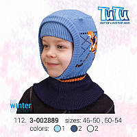 """Шлем для мальчика из новой коллекции """"TuTu"""" арт. 3-002889 синий, 50-54"""