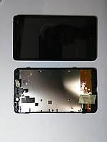 Дисплей  (экран) Nokia XL Dual sim, RM-1030 с сенсором и рамкой high copy.