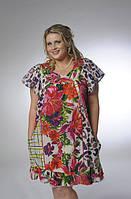 Платье-туника с карманами, ПЛ 10073 , по колено, интернет магазин женской одежды ,50,52,54,56, купить.