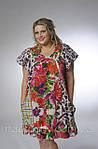 Плаття-туніка з кишенями, ПЛ 10073 , по коліно, інтернет магазин жіночого одягу ,50,52,54,56, купити., фото 5