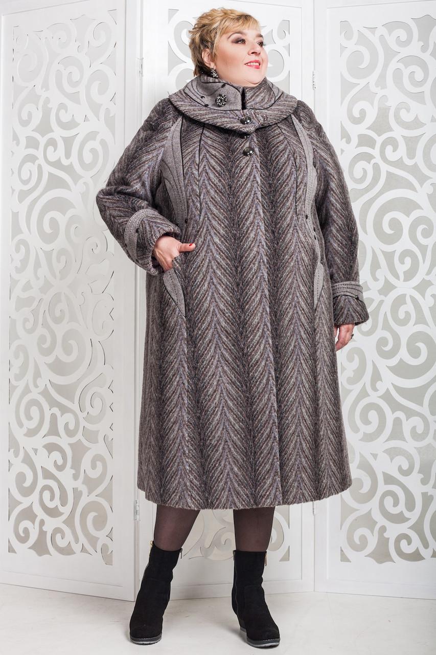 Женское зимнее пальто больших размеров (р. 60-76) арт. 524 Vu Тон 104