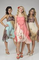 Платье-сарафан Птица, интернет магазин женской одежды,ПЛ 101084,хлопок , вышивка.