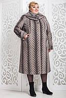Женское зимнее пальто больших размеров (р. 60-76) арт. 524 Vu Тон 111